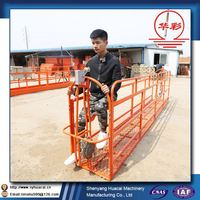 ZLP400 hanging high-rise flat bridge cleaning ISO scaffolding details