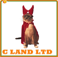red pet halloween costumes cat clothes