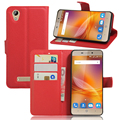 Flip cover PU leather case for ZTE blade A452, with card slot and stand function,
