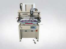 vertical type screen printing machine, servo motor auto screen printing press