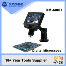 Factory Price Portable 600x Zoom Led Ring Right Digital Microscope With 4.3 Inch Lcd Screen