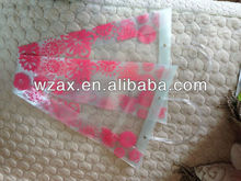 PP plastic flower carry bags with hanging for potted plant bags