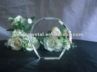 clear blank crystal with engraved for crystal trophy and award (R-0445)
