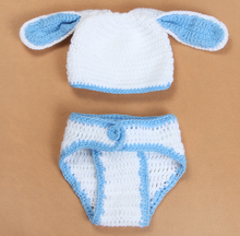 Manufacturer soft newborn crochet hat and diaper cover set Handmade knitted underpants set