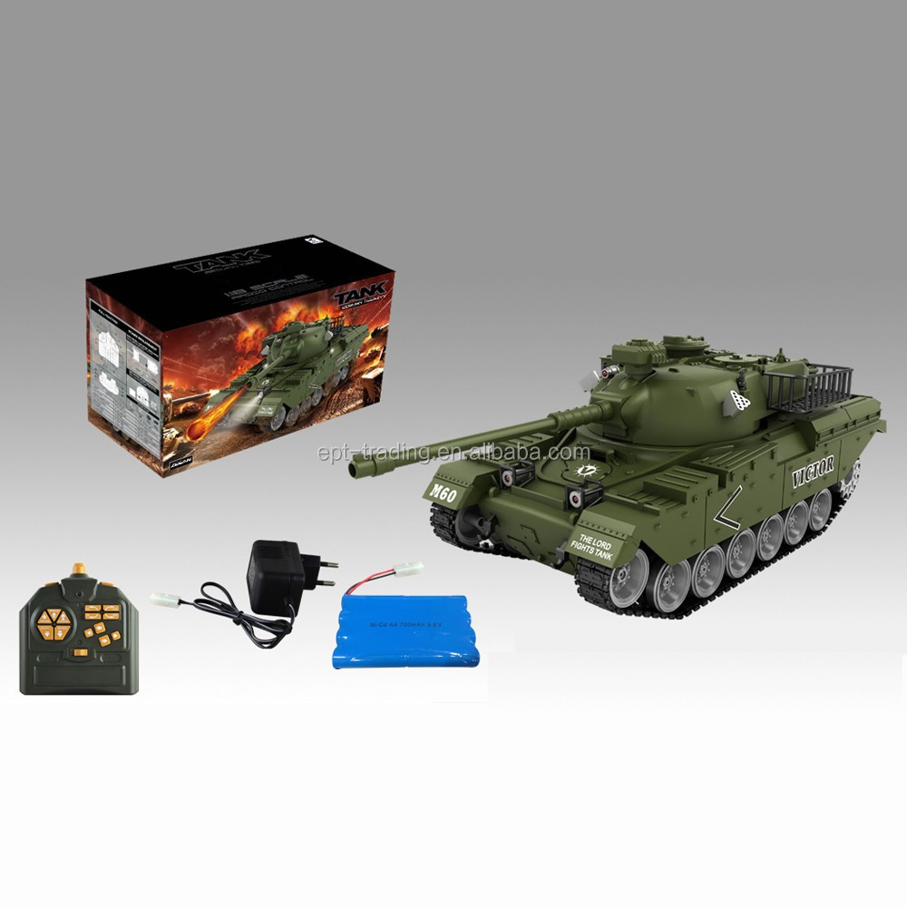 18 channel 1:18 scale rc tank with light and music