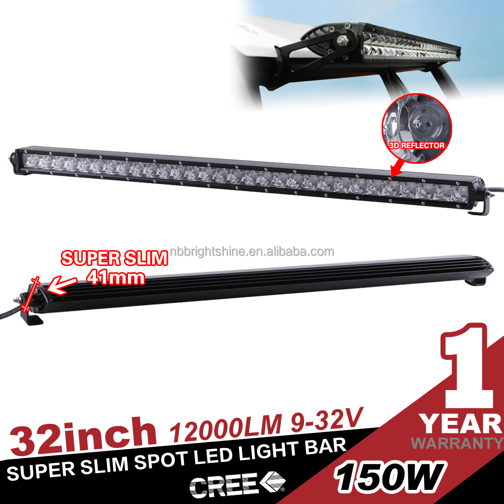 Super bright 12000lm 150w led light bar off road headlight