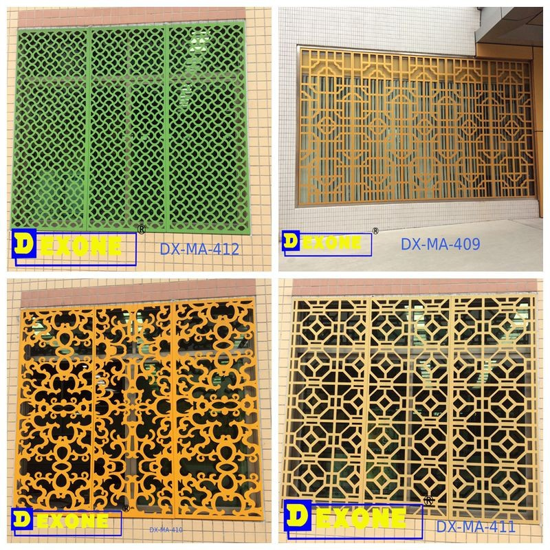 Aluminum Carved Perforated Metal Window Screen Decorative Exterior Wall Panel Room Parion