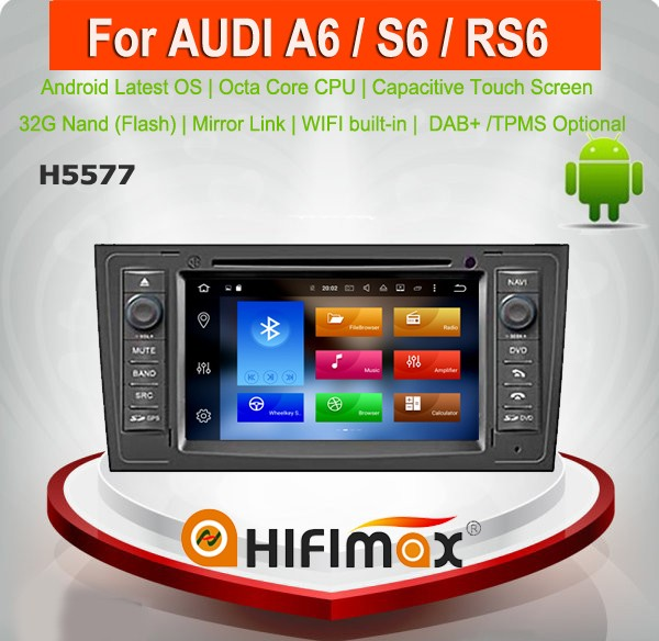 Hifimax Android 6.0 navigation for Audi A6 gps navigation1997-2004 Octa Core 8 core 32G car dvd radio gps navigation for audi a6