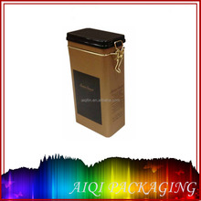 2016 newest hot selling coffee tin box with plastic lid