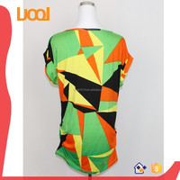 Wholesale fancy irregular pattern Print tops for girls and women