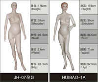cheap skin color fiberglass pregnant mannequin
