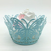 Butterfly design laser cut cupcake wrapper for cake decorations