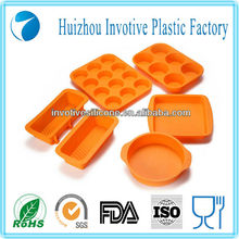 6 pcs Custom Design Silicone Bake King Bakeware