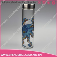 500ml empty glass mineral water bottles with screw cap