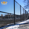 Black plastic chain link fence (factory)