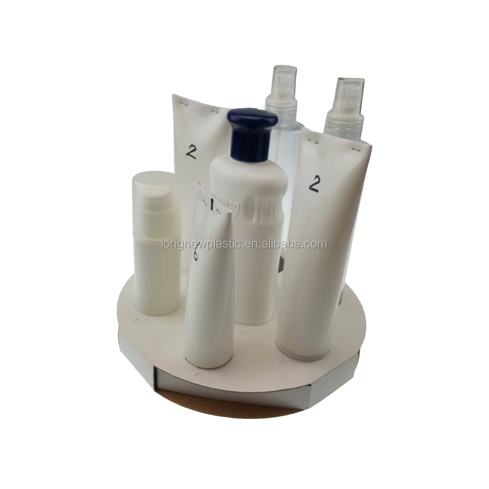 R PET / PE Care products plastic bottle packaging / printing