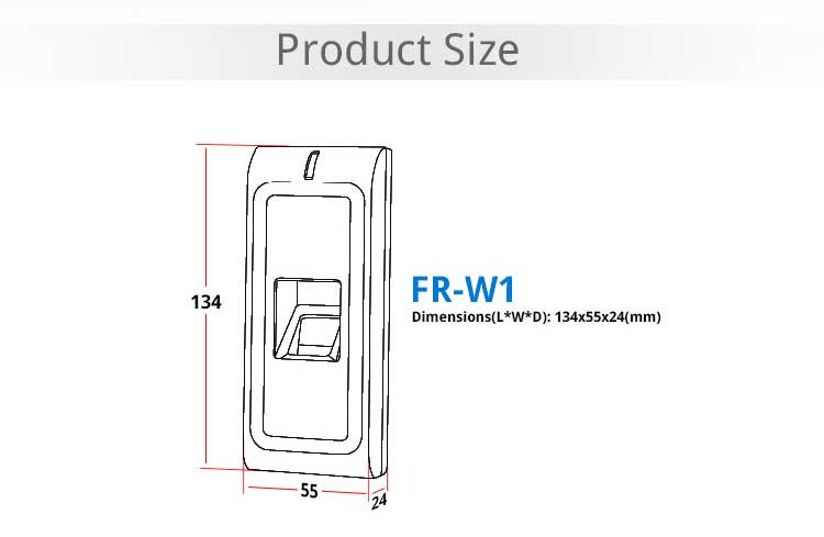 Full metal waterproof IP65 outdoor fingerprint door lock fingerprint access controller fingerprint locker