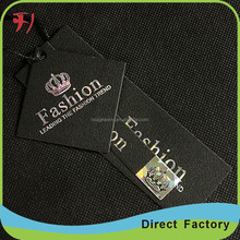 Wholesale gold foil hang tags design for clothing,custom kids hang tags jeans,embossed round hang tags and hang tag