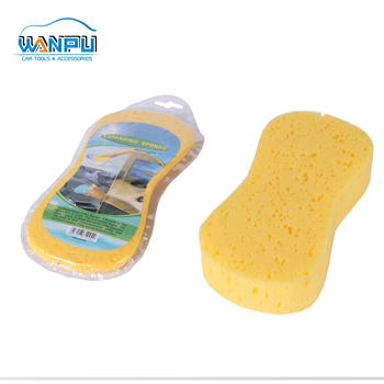 Eight Shaped yellow seaweed Whosale China Manufacture car wash sponge