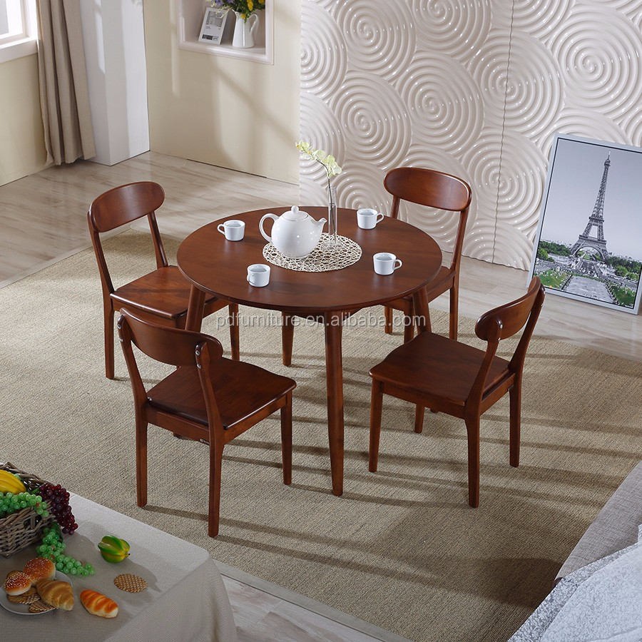 Fashionable solid wooden scandinavian dinning table modern