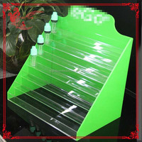 10ml food grade olive glass bottles with Triangle braille table childproof cap /acrylic display for eliquid bottle