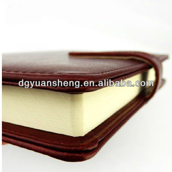 Market popular pu leather college notebook with lock