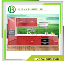 pvc kitchen cabinet/European style modern flat pack kitchen / ready made kitchen cabinet