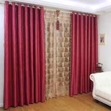 red color festival curtains beautiful home textile with lace