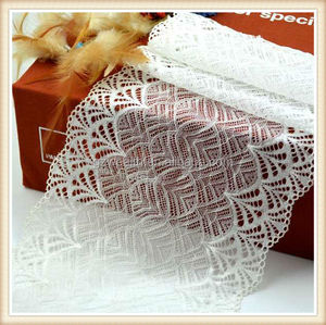 fashion design polyester Stretch Lace Fabric New Sample lingerie lace for decorative from guangzhou