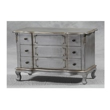Chest of drawers distressed style with solid reclaimed teak wood