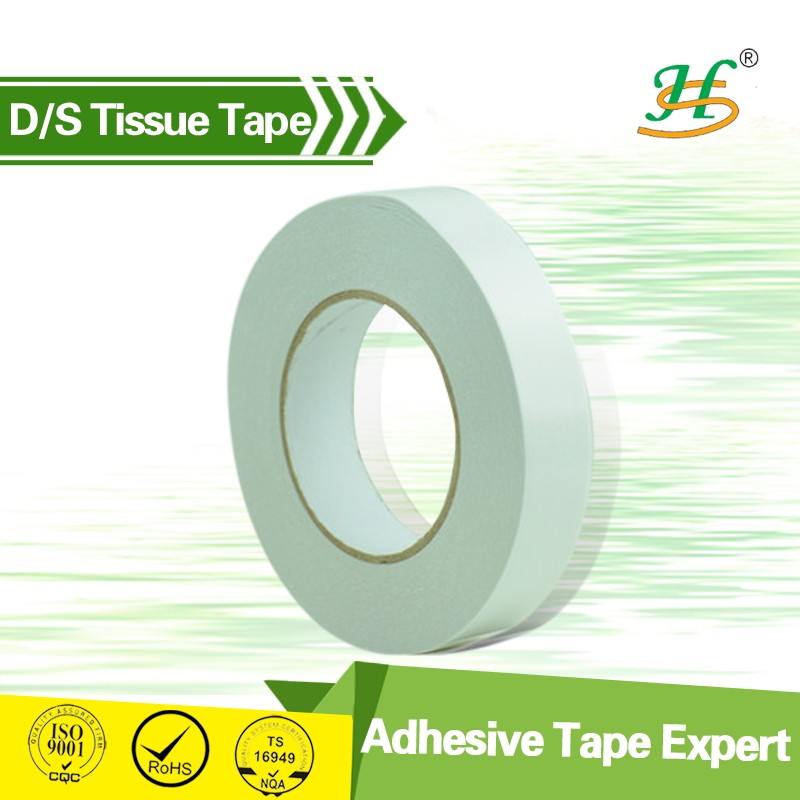 ISO SGS Certified Double Sided Sticky Tape Paper (Tissue Carrier Coated With Acrylic Adhesive)