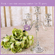 Metal Floor Standing Tall Crystal Candle Holders For Weddings Table Decoration