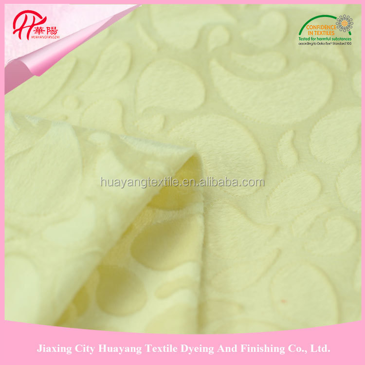 hot sale design polyester brushed tricot fabric