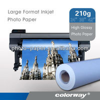 "High glossy Inkjet Photo Paper 24"" 180g/m2 610mm x 30m wide-format roll"