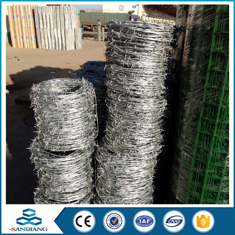 Strong quality pvc or galvanized stainless steel barbed wire weight per meter