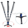 Triopo DV-28 professional carbon fiber camera monopod with folding base for all cameras
