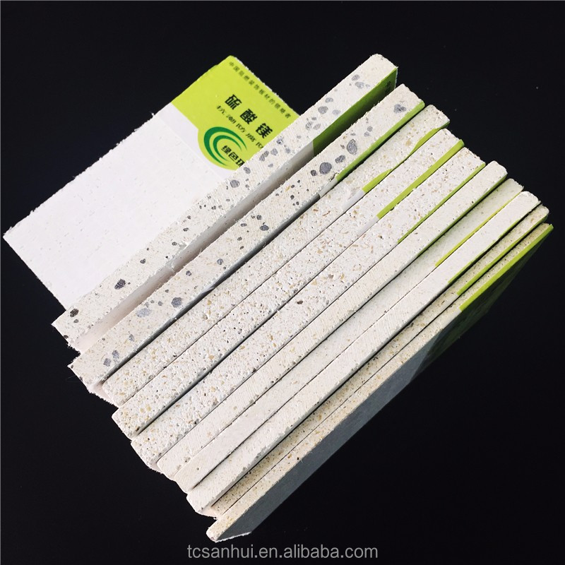 Hot selling decorative magnesium oxide wall board frieproof MgO MgSO4 board
