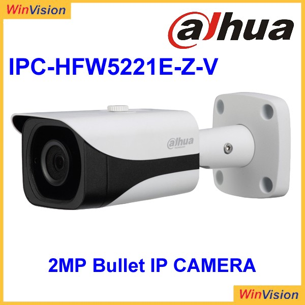 dahua 2MP Full HD WDR Vandal Proof Network IR-Bullet Camera IPC-HFW5221E-Z-V
