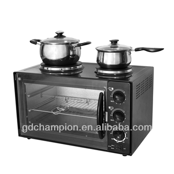 2016 HOT SELL 26L Multifunction toaster oven with two hot plate MTOL6-31