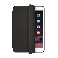 black beige color tablet case pu leather three fold protective case for Ipad mini4