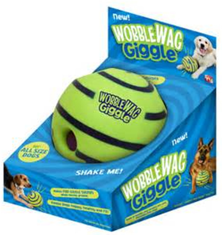 2016 new Lovely Wobble Wag Giggle Ball Dog Play Ball hot cakes swing shaking smirking pet toys