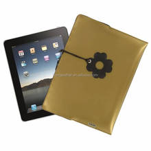 New design pouch for ipad,double zipper case for ipad,flower decorative case for ipad