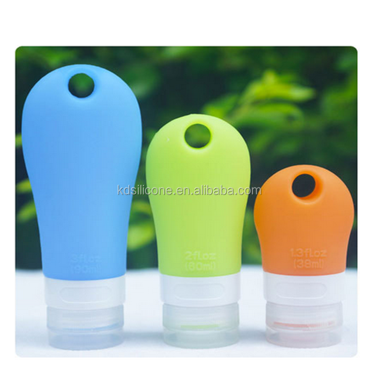 Squeezable Silicone Portable Travel Bottles Container Leakproof Bottles Toiletry Bottles for Cosmetics Lotion Shampoo