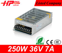 Industrial use good price single output constant voltage 250w 7 ampere 36 volt smps power supplies