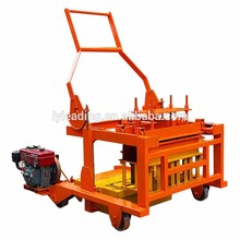 40-3a Diesel Engine Mobile Hollow Block Drawing Construction Machinery And Equipment Brick Blocks Making Machine For Sale In Usa
