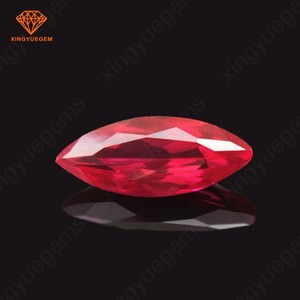 3A Marquise shape red ruby in loose gemstone for ruby diamond ring