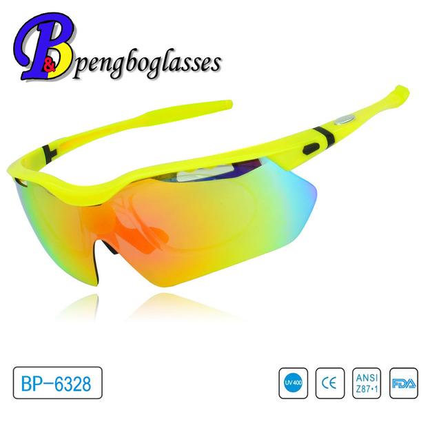 Newest crystal green sport glasses with optical clip