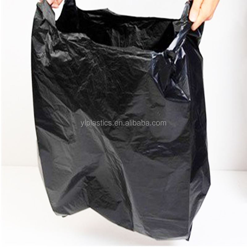Big size PE plastic ploy garbage t shirt packing bags