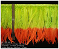 Colorful coque feather fringes and trims