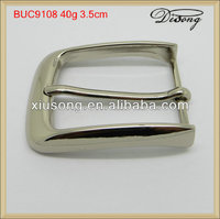 BUC9108 Simple Silver Rectangle Barrel Plating Belt Buckles And Pin Belt